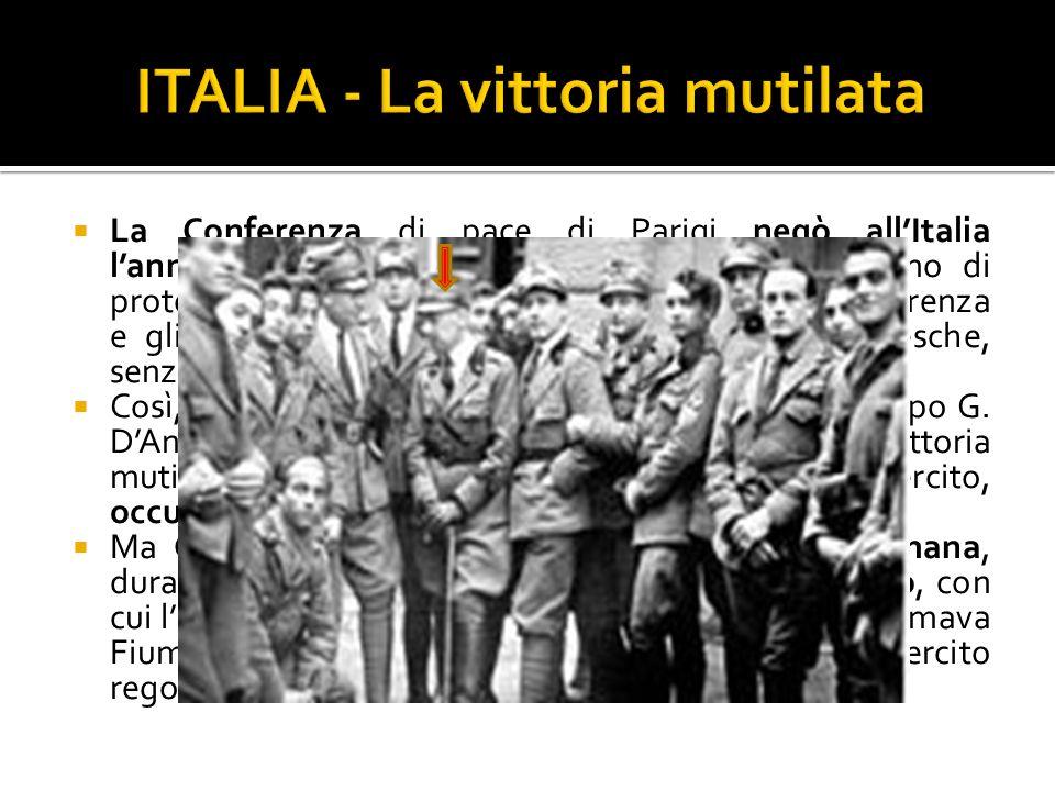 ITALIA - La vittoria mutilata