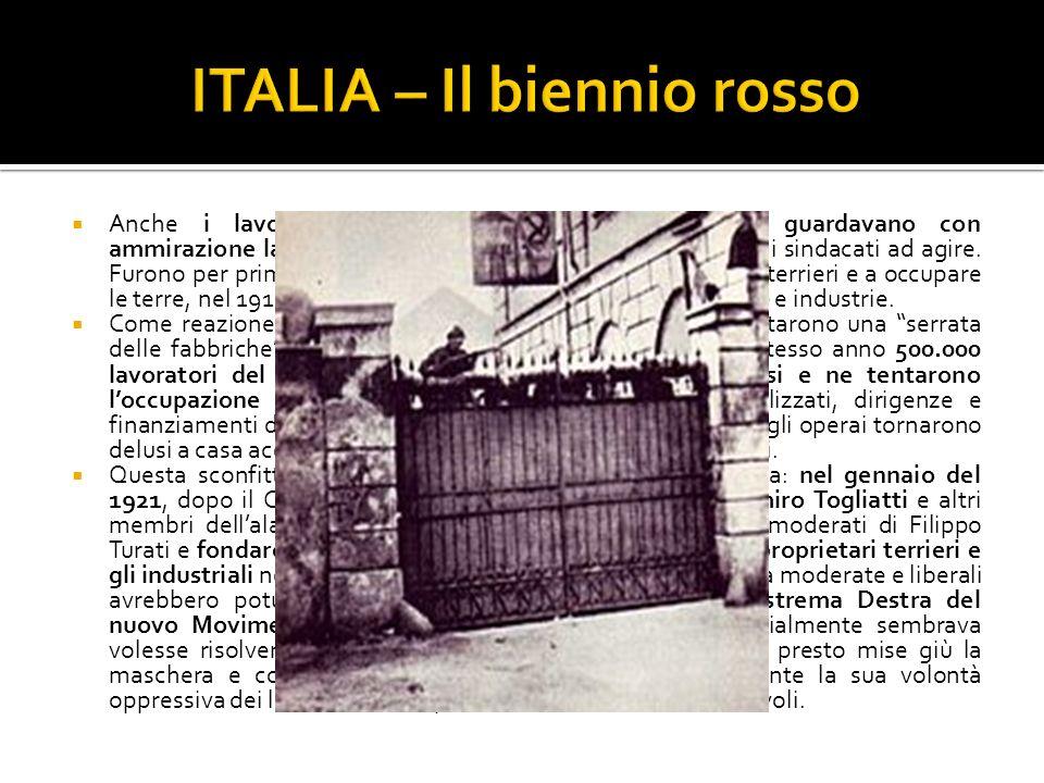 ITALIA – Il biennio rosso