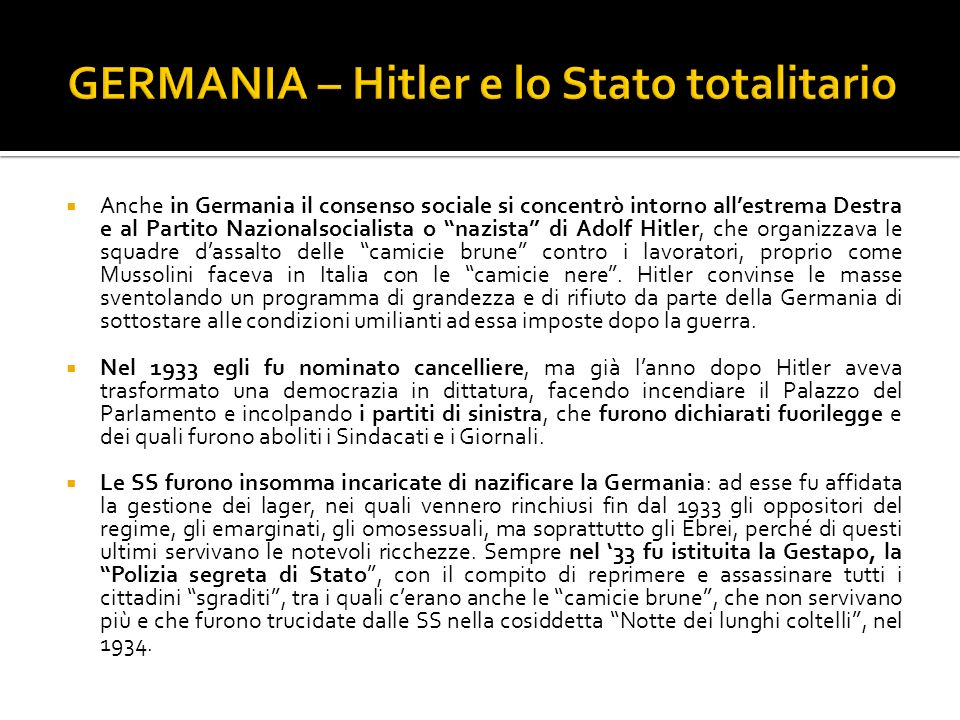 GERMANIA – Hitler e lo Stato totalitario