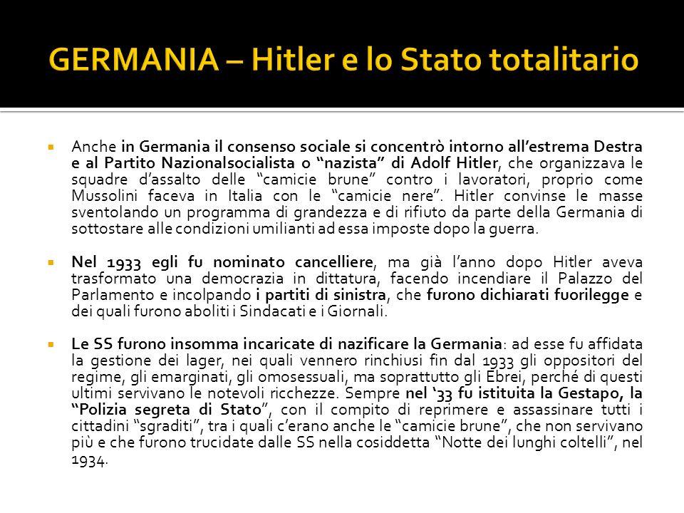 GERMANIA – Hitler e lo Stato totalitario