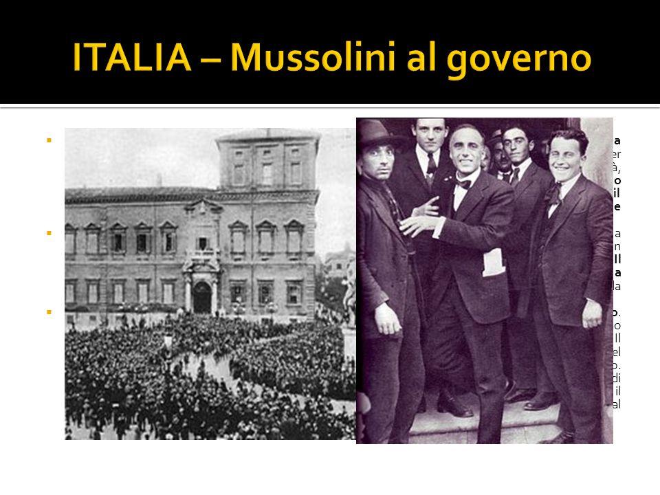 ITALIA – Mussolini al governo