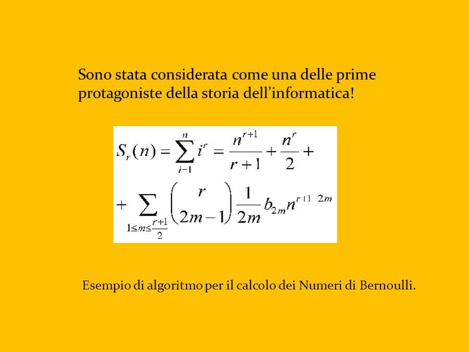 Esempio di algoritmo per il calcolo dei Numeri di Bernoulli.