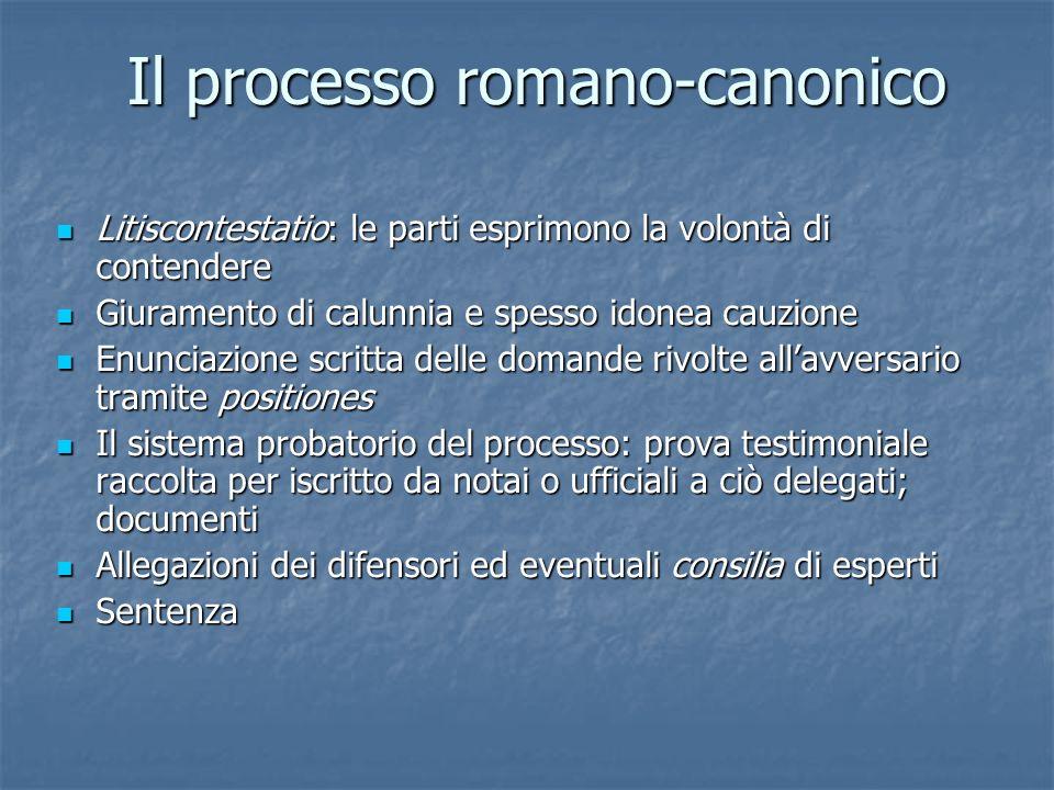 Il processo romano-canonico