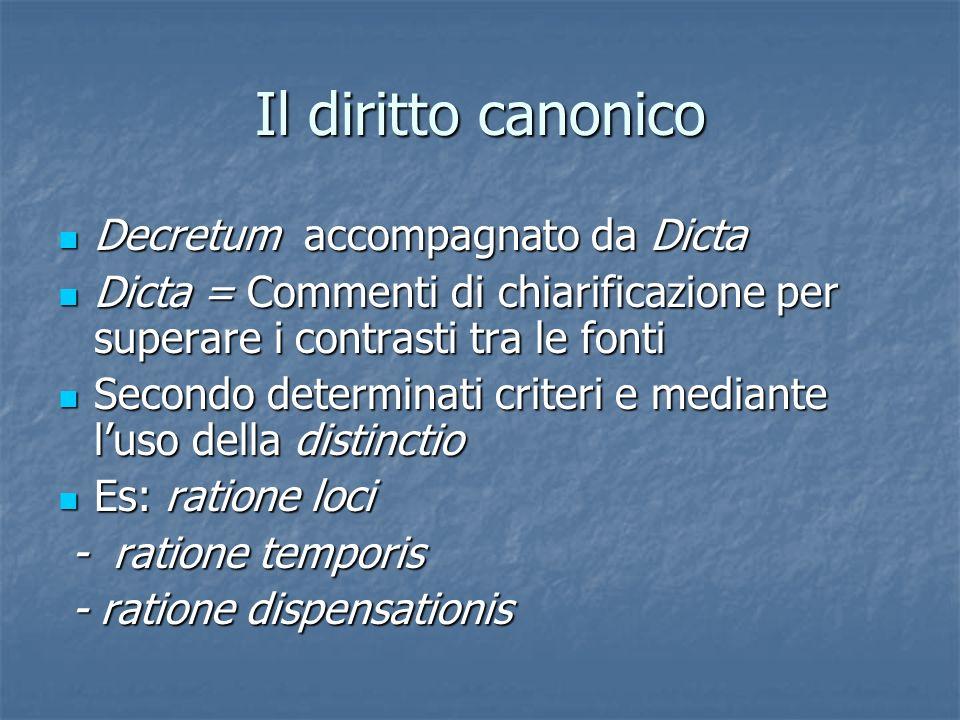 Il diritto canonico Decretum accompagnato da Dicta
