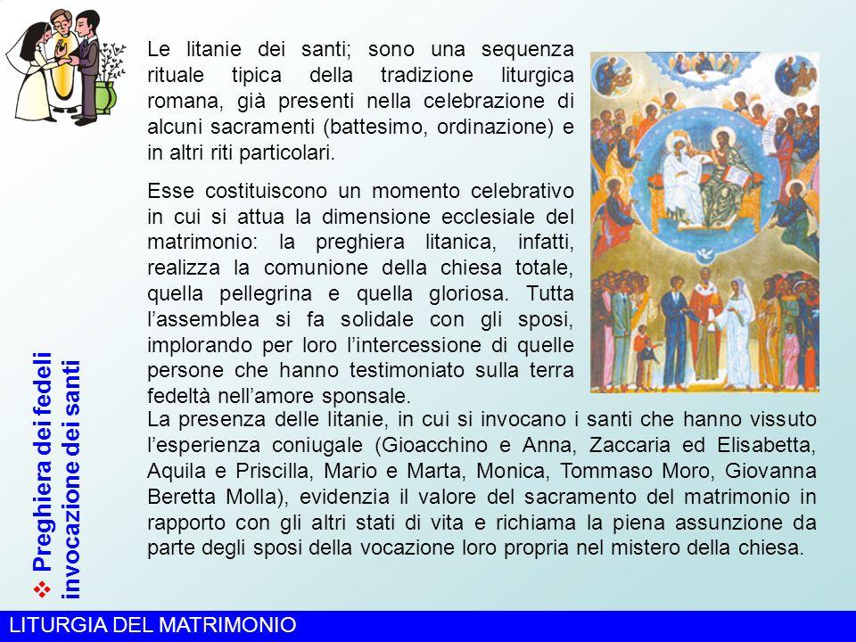 Preghiera dei fedeli invocazione dei santi