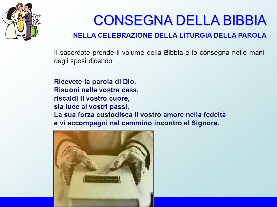 CONSEGNA DELLA BIBBIA NELLA CELEBRAZIONE DELLA LITURGIA DELLA PAROLA
