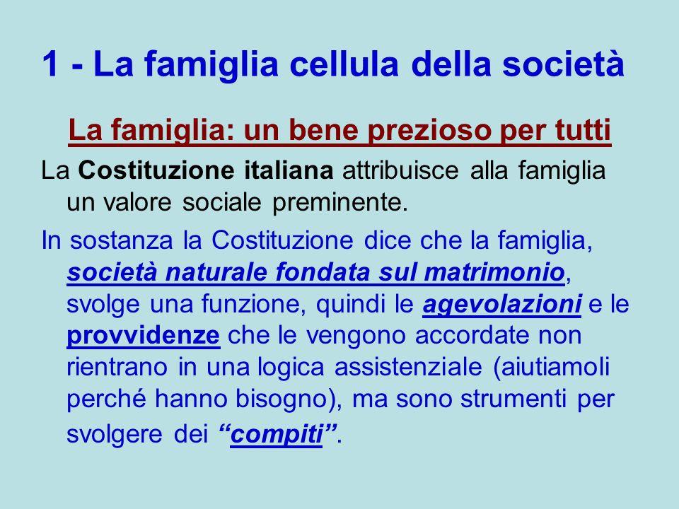 1 - La famiglia cellula della società