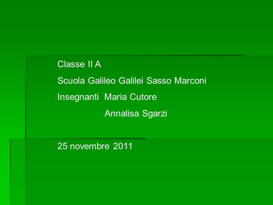 Classe II A Scuola Galileo Galilei Sasso Marconi. Insegnanti Maria Cutore.