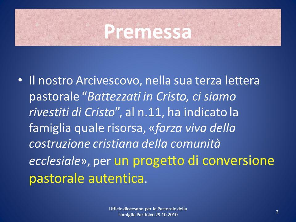 Ufficio diocesano per la Pastorale della Famiglia Partinico 29.10.2010
