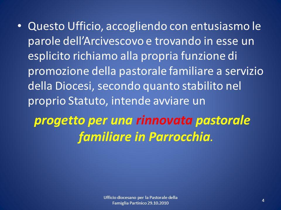 progetto per una rinnovata pastorale familiare in Parrocchia.