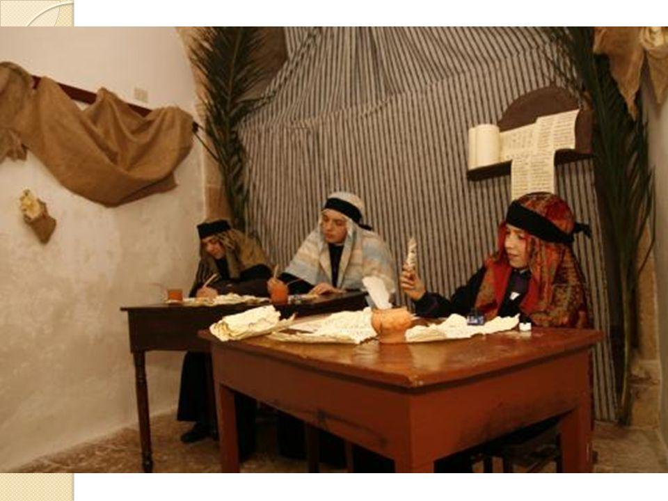 Gli scribi. Erano gli uomini del Libro , gli specialisti e interpreti delle Sacre Scritture.