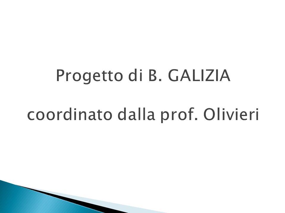 Progetto di B. GALIZIA coordinato dalla prof. Olivieri