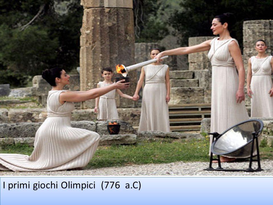 I primi giochi Olimpici (776 a.C)