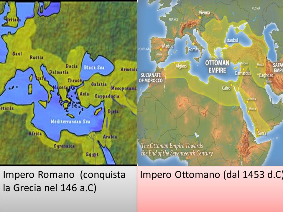 Impero Romano (conquista la Grecia nel 146 a.C)
