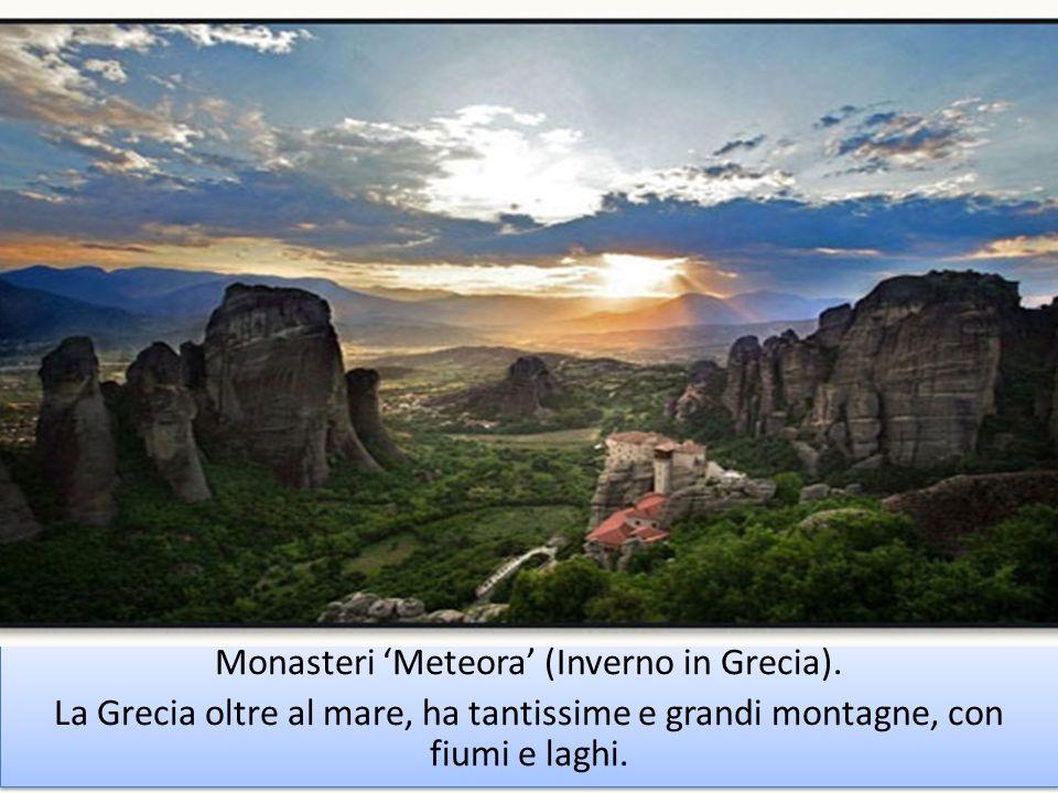 Monasteri 'Meteora' (Inverno in Grecia).