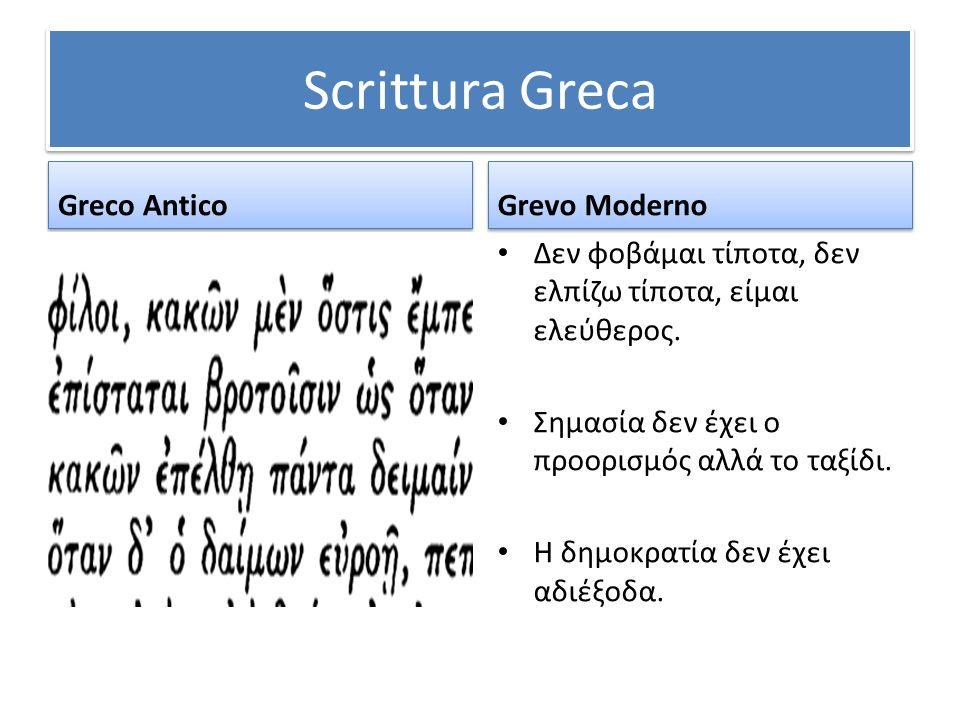 Scrittura Greca Greco Antico Grevo Moderno