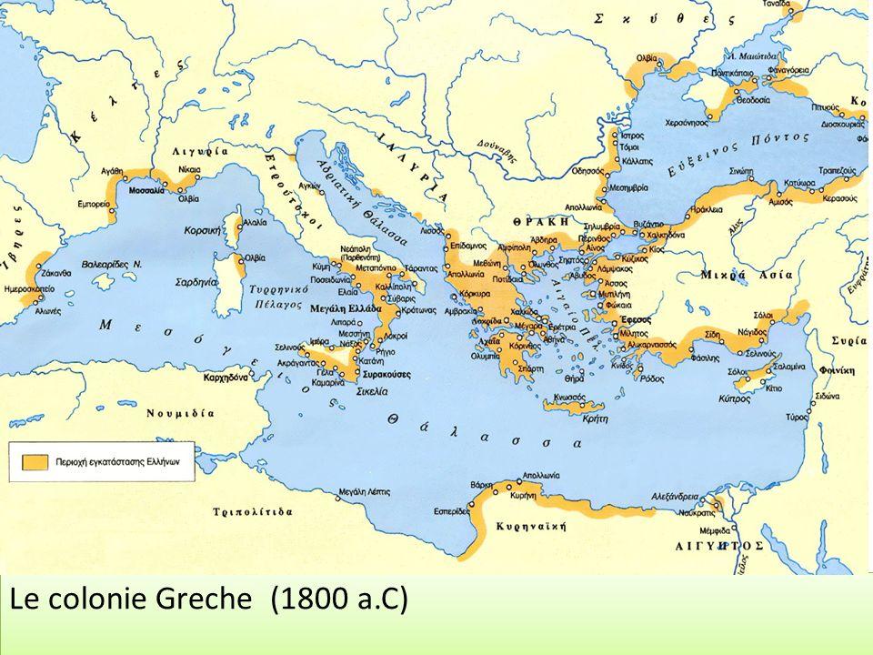 Le colonie Greche (1800 a.C)