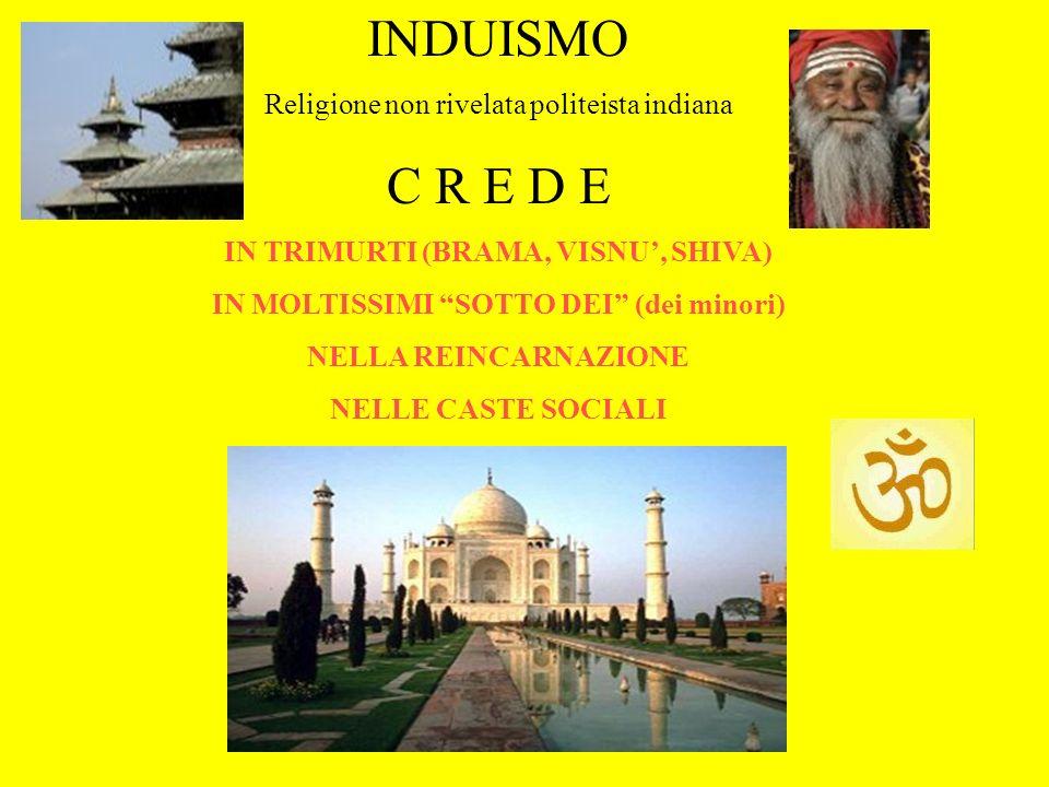 INDUISMO C R E D E Religione non rivelata politeista indiana