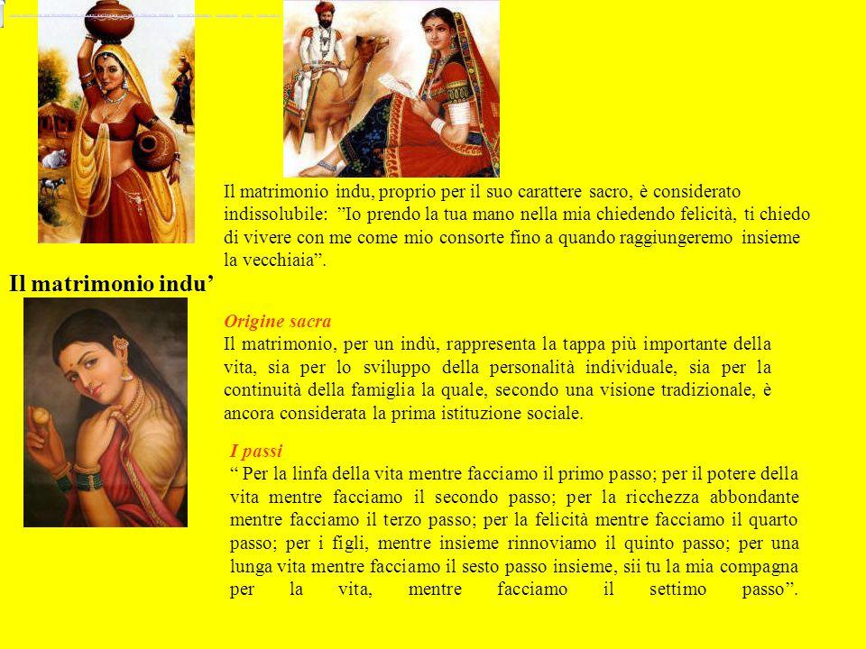 Il matrimonio indu' Origine sacra