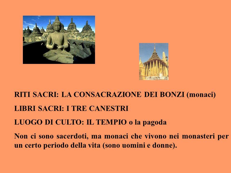 RITI SACRI: LA CONSACRAZIONE DEI BONZI (monaci)