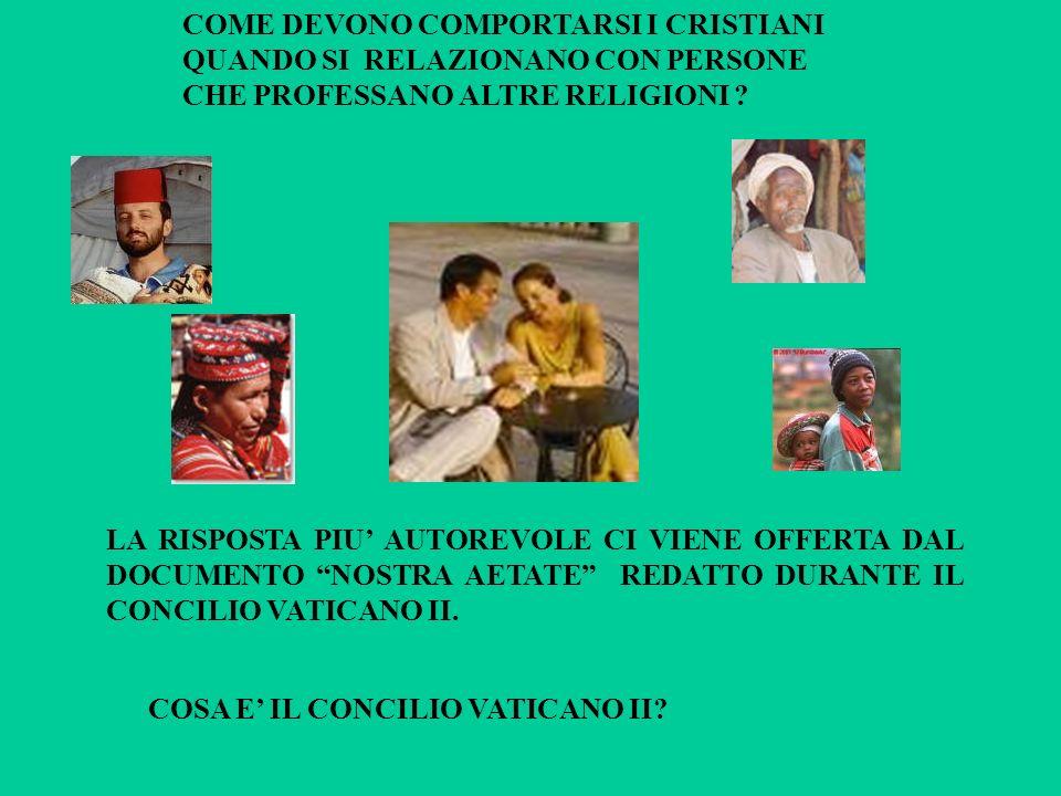 COME DEVONO COMPORTARSI I CRISTIANI QUANDO SI RELAZIONANO CON PERSONE CHE PROFESSANO ALTRE RELIGIONI