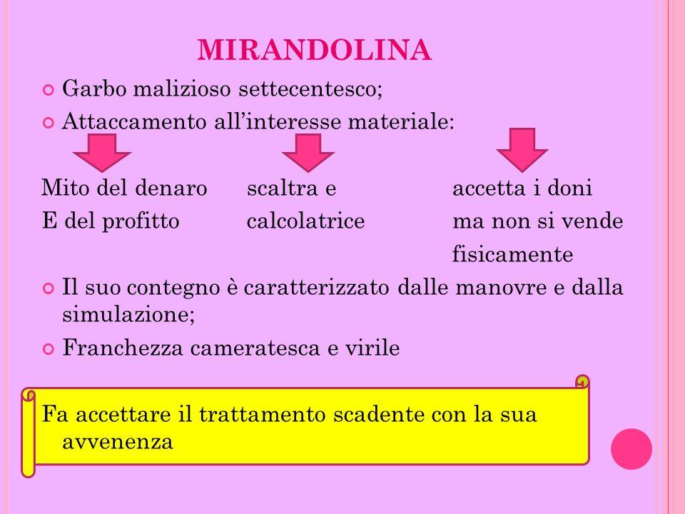 MIRANDOLINA Garbo malizioso settecentesco;