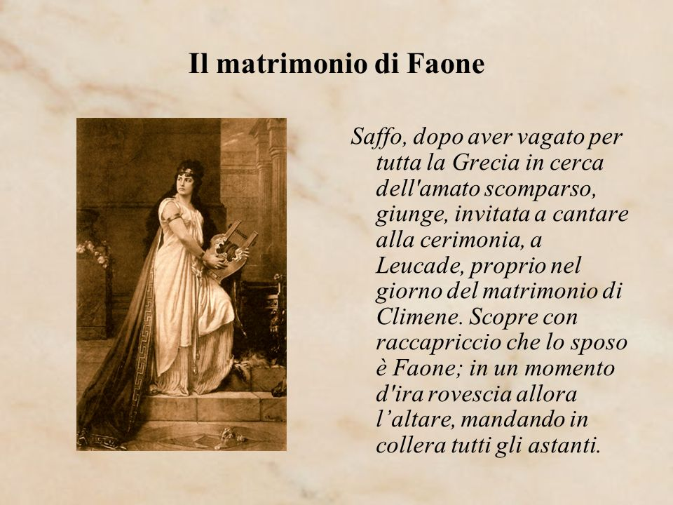Il matrimonio di Faone