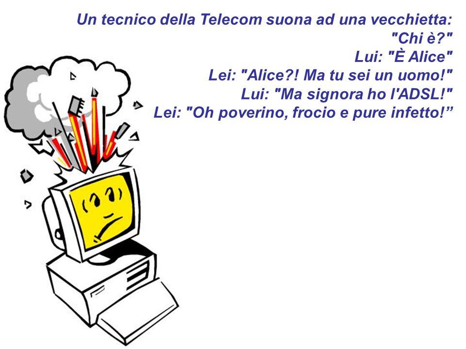 Un tecnico della Telecom suona ad una vecchietta: Chi è