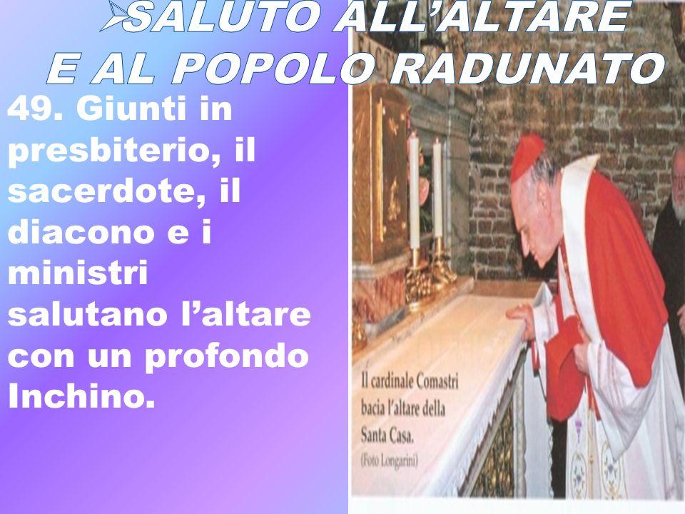 SALUTO ALL'ALTARE E AL POPOLO RADUNATO