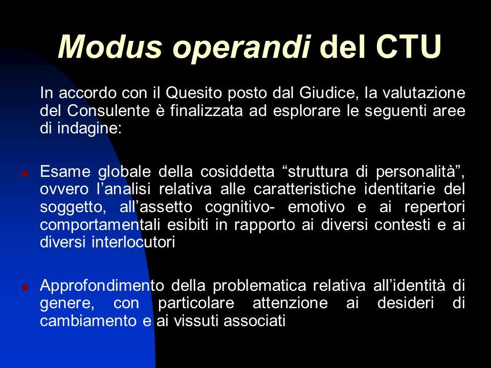 Modus operandi del CTU