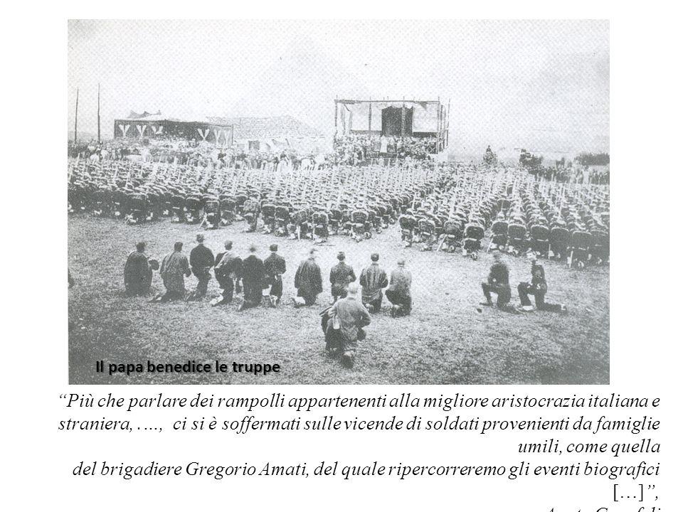 Il papa benedice le truppe