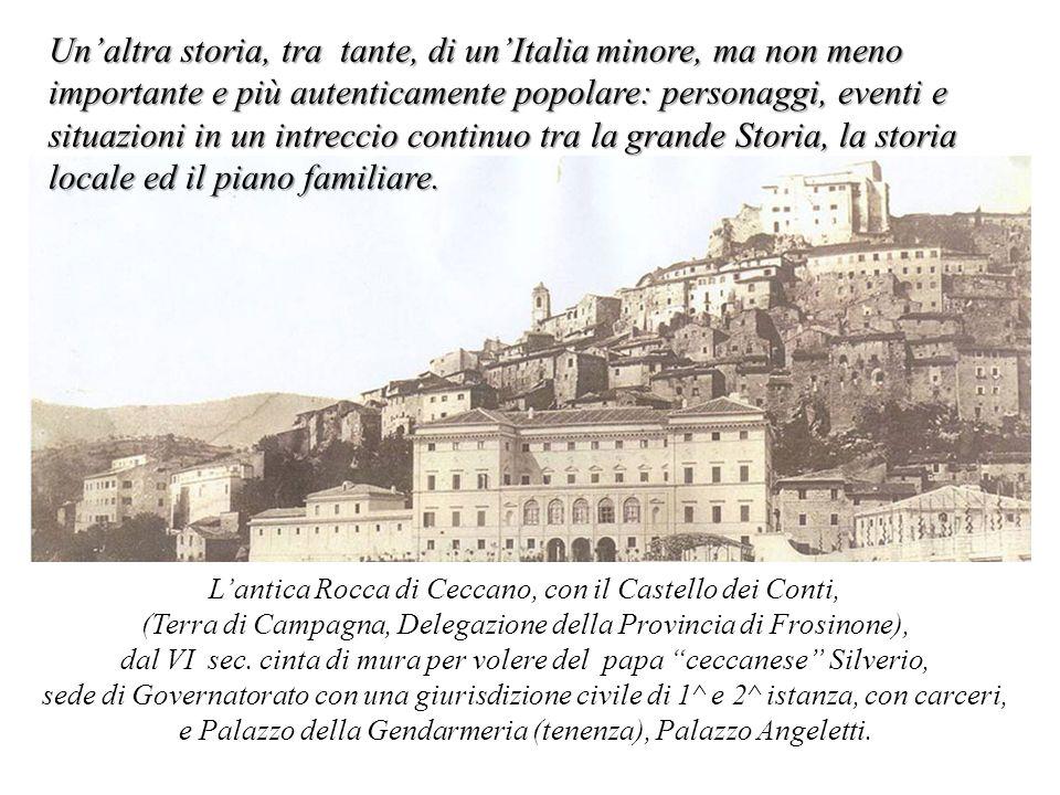 Un'altra storia, tra tante, di un'Italia minore, ma non meno importante e più autenticamente popolare: personaggi, eventi e situazioni in un intreccio continuo tra la grande Storia, la storia locale ed il piano familiare.