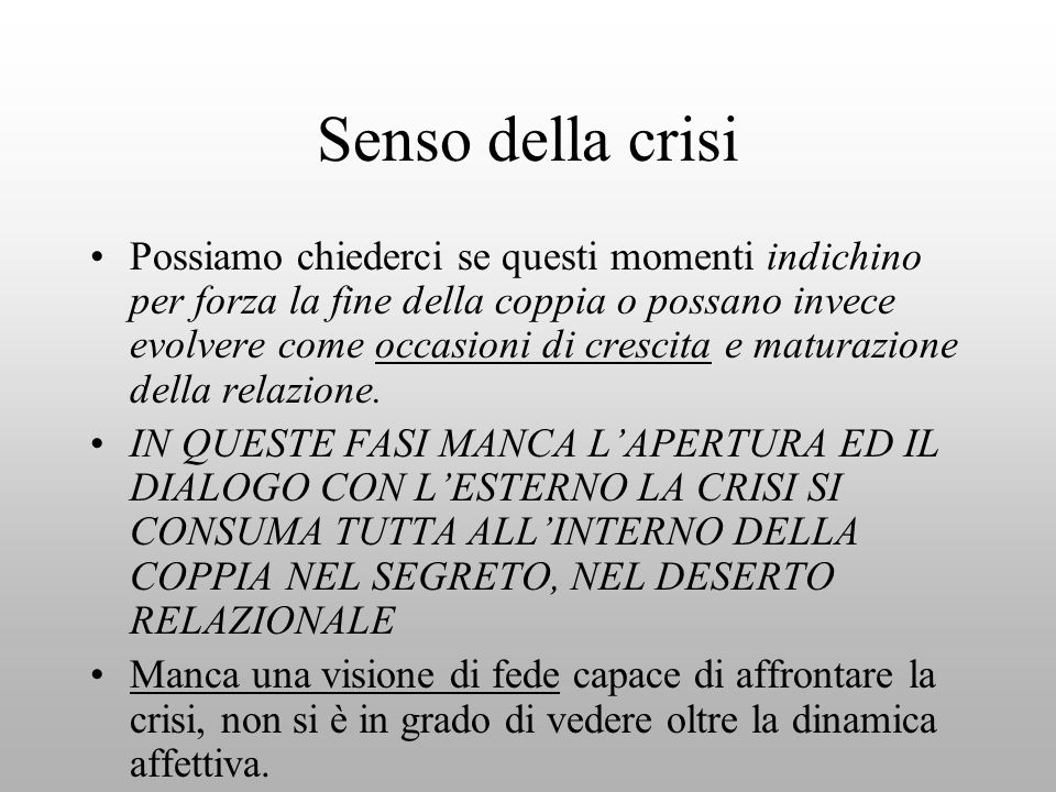 Senso della crisi