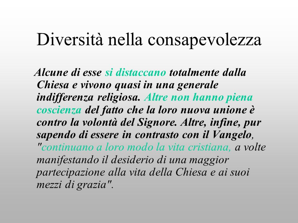 Diversità nella consapevolezza