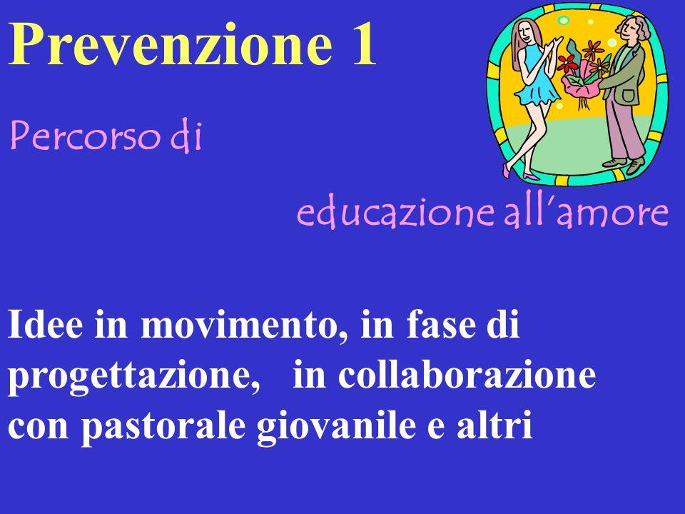 Prevenzione 1 Percorso di educazione all'amore