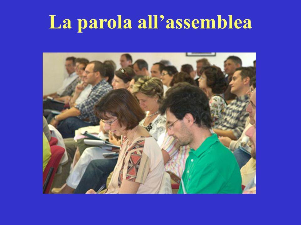 La parola all'assemblea