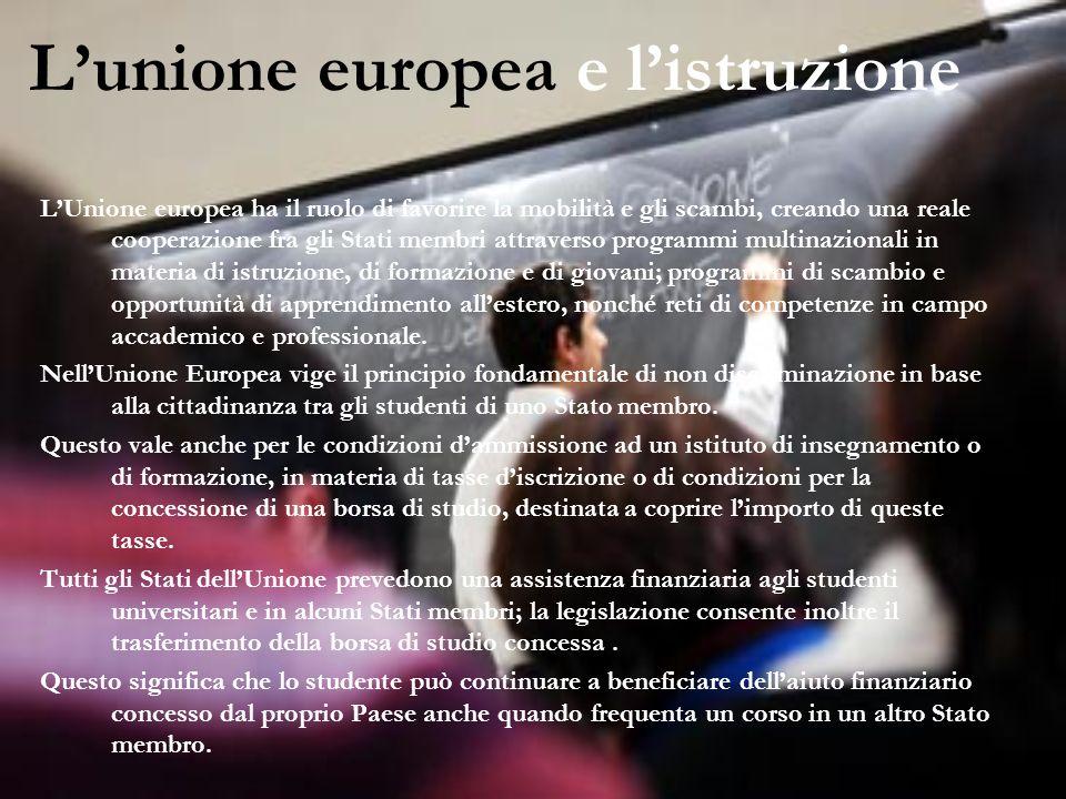L'unione europea e l'istruzione