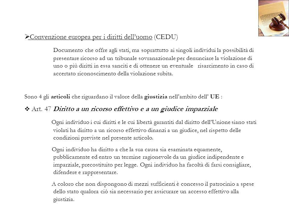 Convenzione europea per i diritti dell'uomo (CEDU)