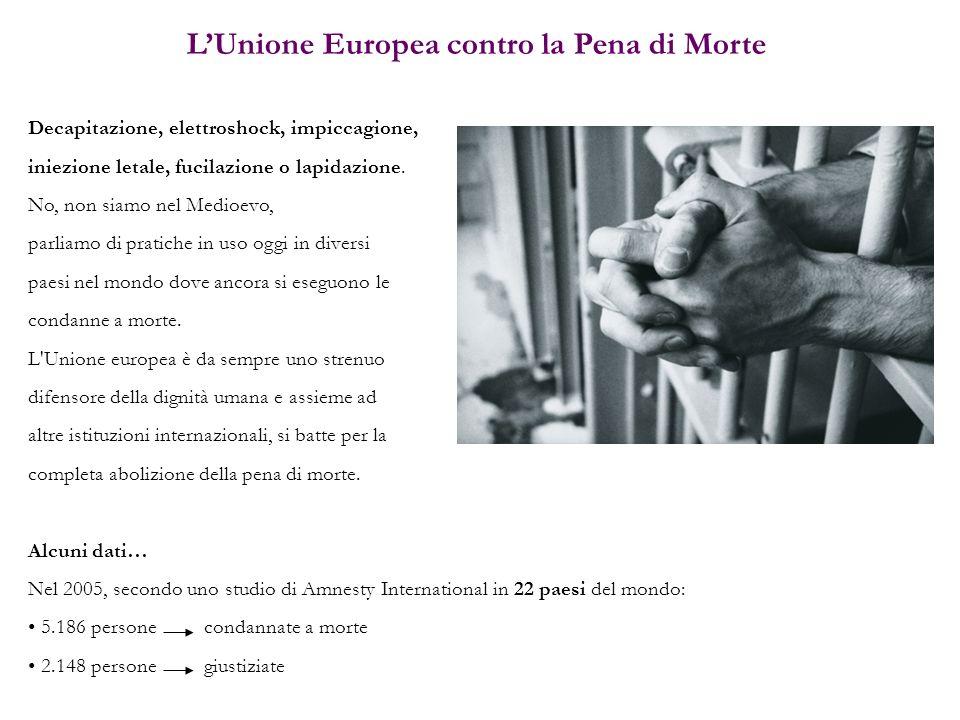 L'Unione Europea contro la Pena di Morte