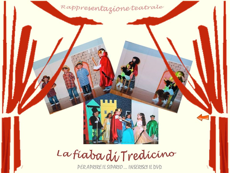Rappresentazione teatrale PER APRIRE IL SIPARIO … INSERISCI IL DVD
