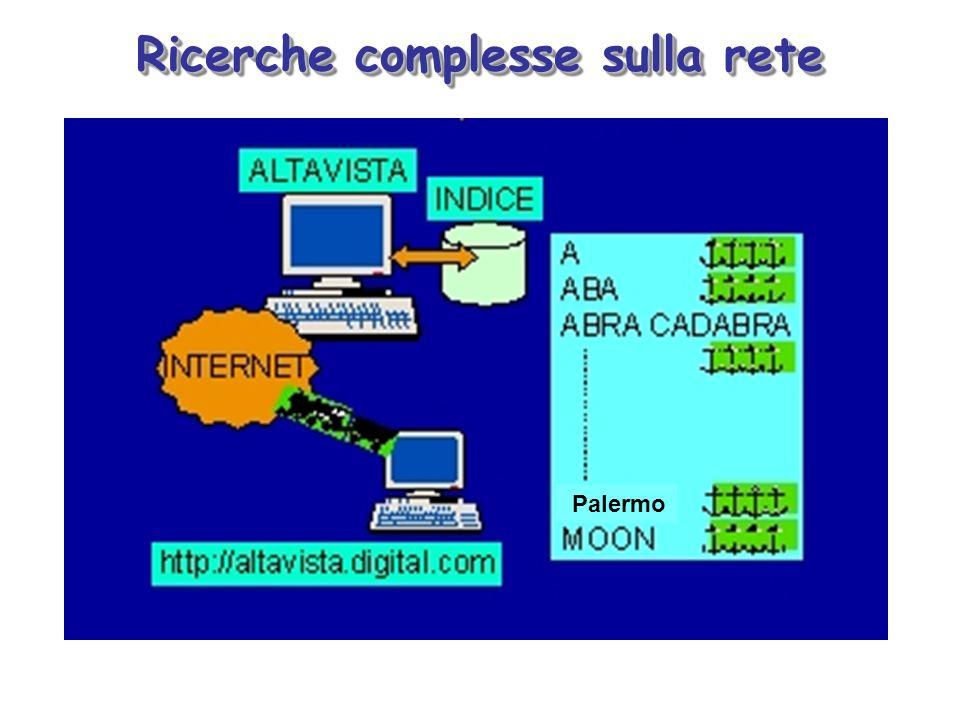 Ricerche complesse sulla rete