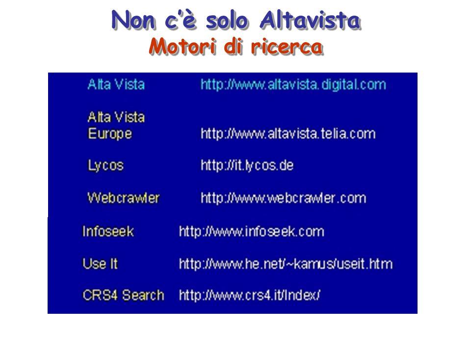 Non c'è solo Altavista Motori di ricerca