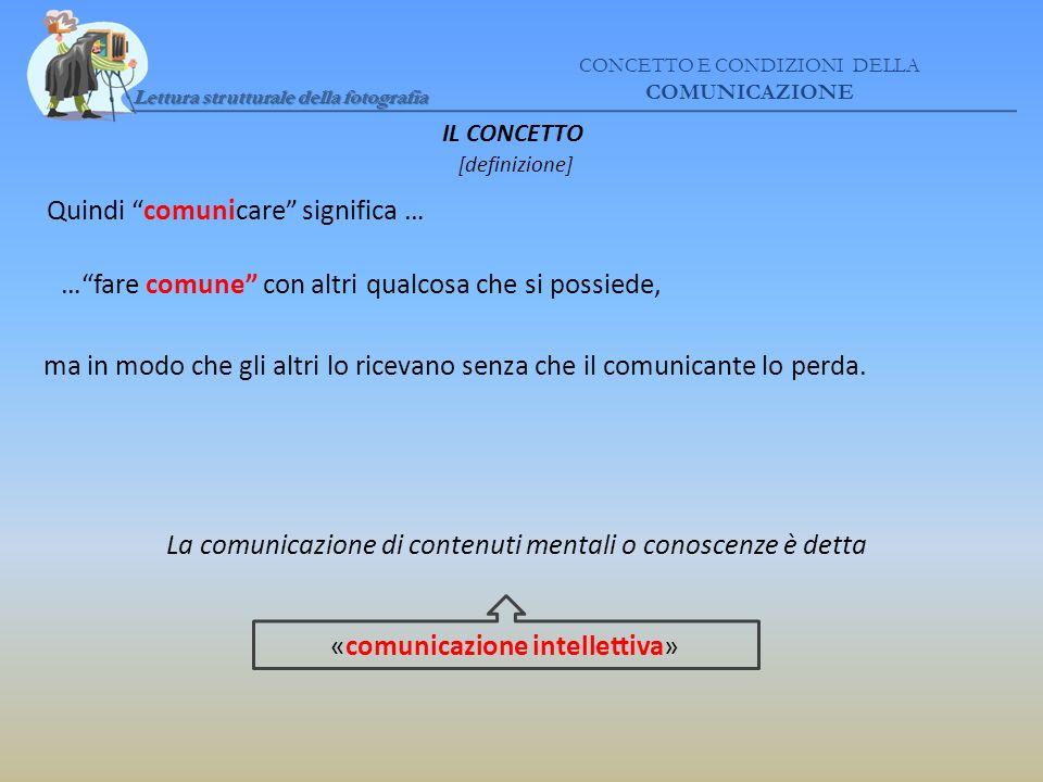 Quindi comunicare significa …