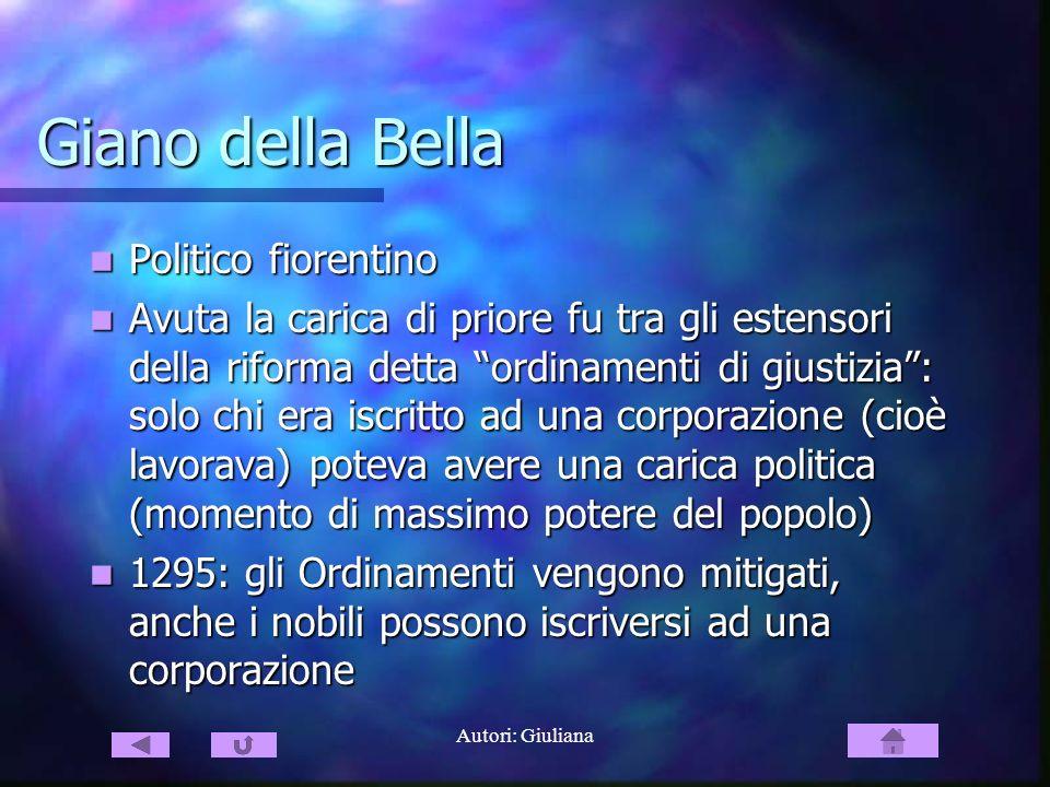 Giano della Bella Politico fiorentino