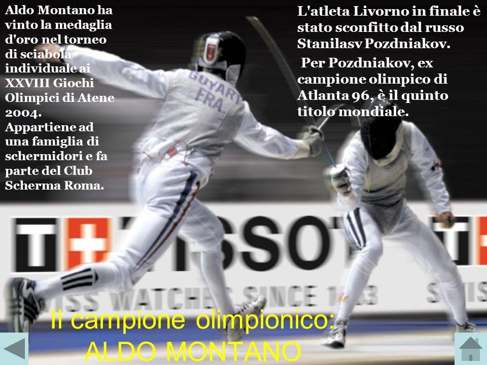 Il campione olimpionico: ALDO MONTANO