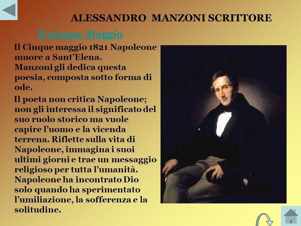 ALESSANDRO MANZONI SCRITTORE