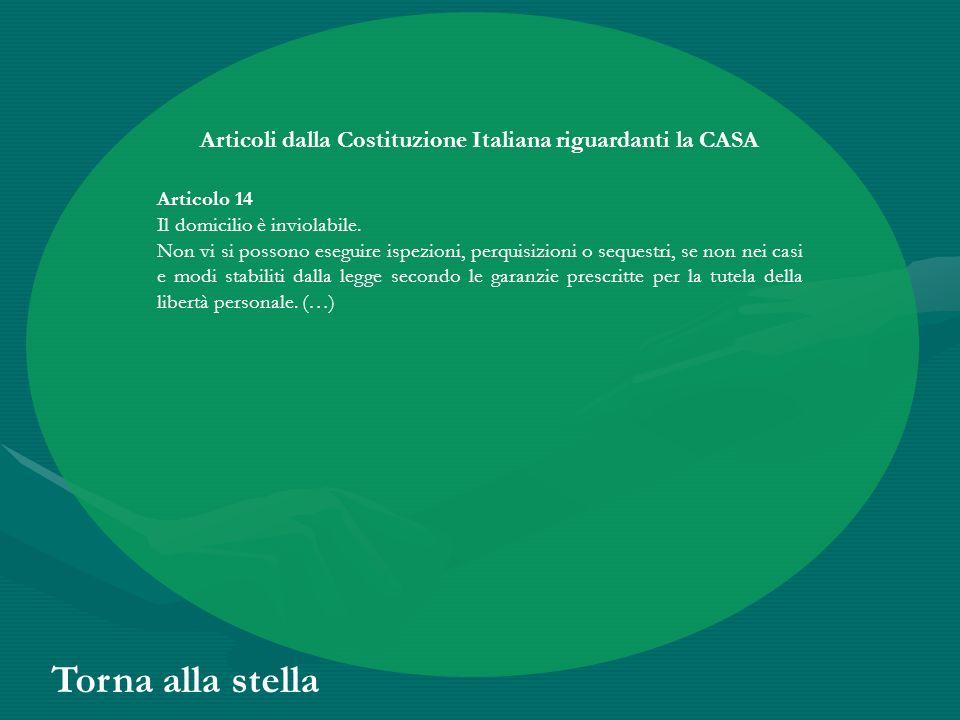 Articoli dalla Costituzione Italiana riguardanti la CASA