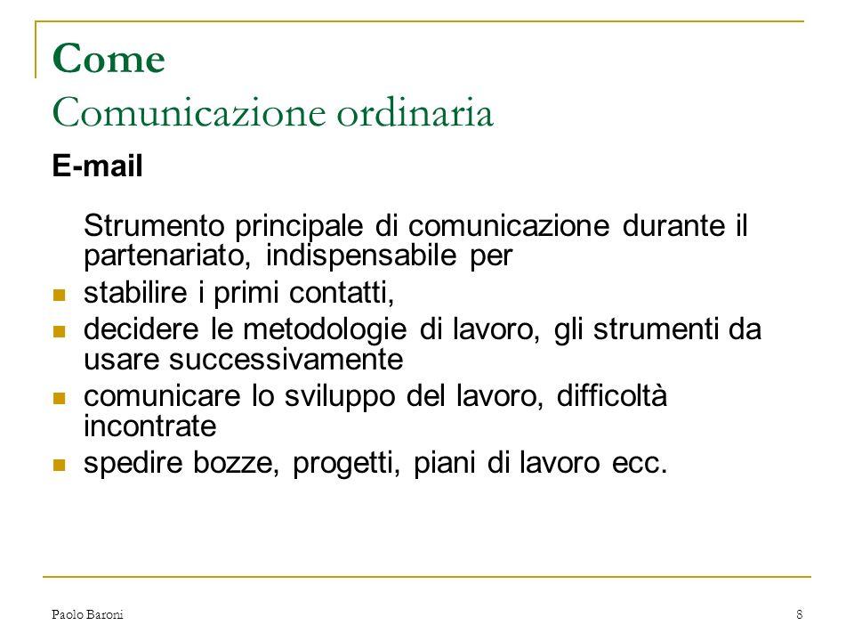 Come Comunicazione ordinaria