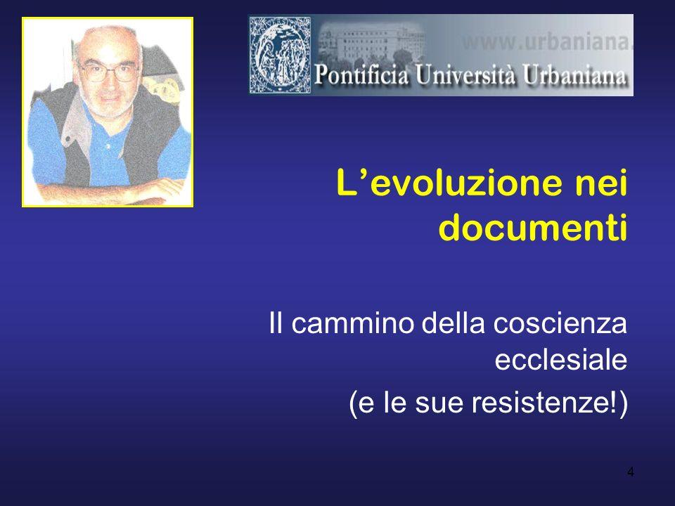 L'evoluzione nei documenti