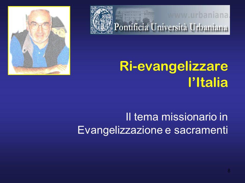 Ri-evangelizzare l'Italia